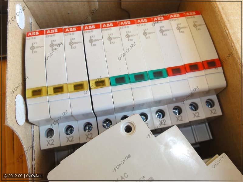 Светодиодные индикаторные лампочки ABB E219