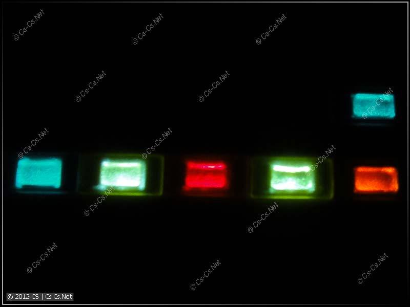 Светящиеся лампочки E219 в темноте =)