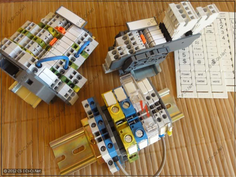 Клеммники на DIN-рейку ABB серии SNK