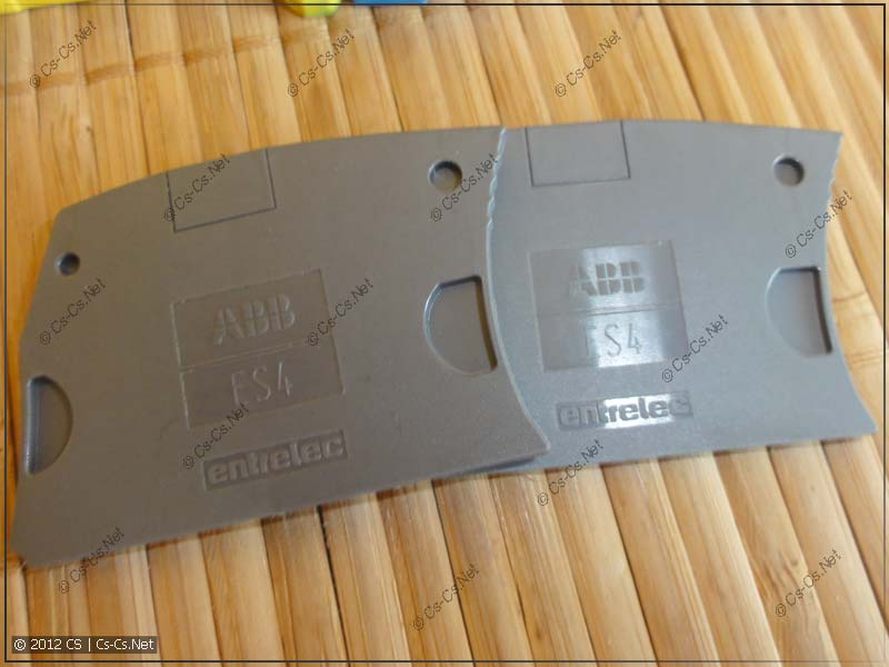 Торцевой изолятор ES4 для клемм на 4-16 квадратов