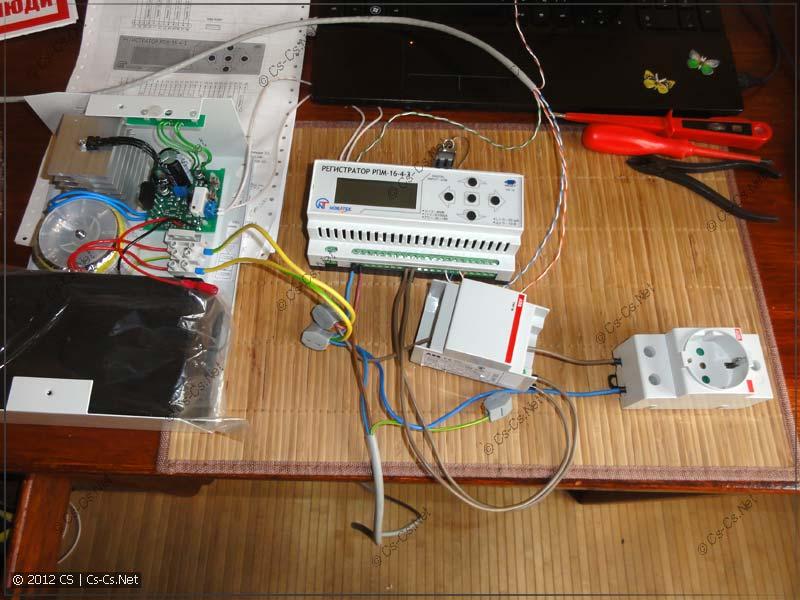 Тестовая схема для измерения напряжения и тока через ТТ