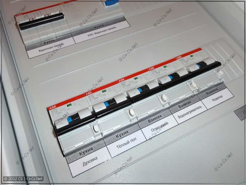 Силовой трёхфазный щиток на дифавтоматах ABB DS201/202C