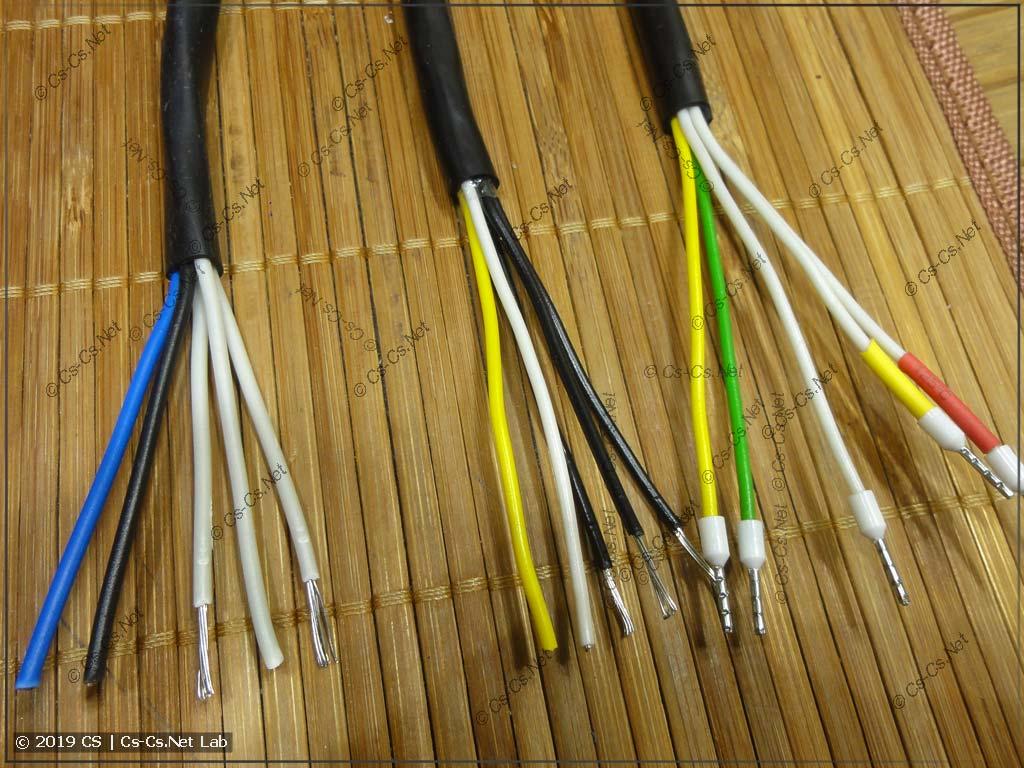 Кабели МКШ 5х0,5..0,75 и разные по цвету жилы (это нормально)