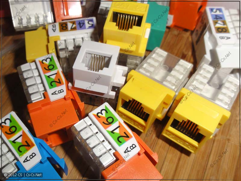Модули KeyStone Jack без упаковки (и разных цветов)