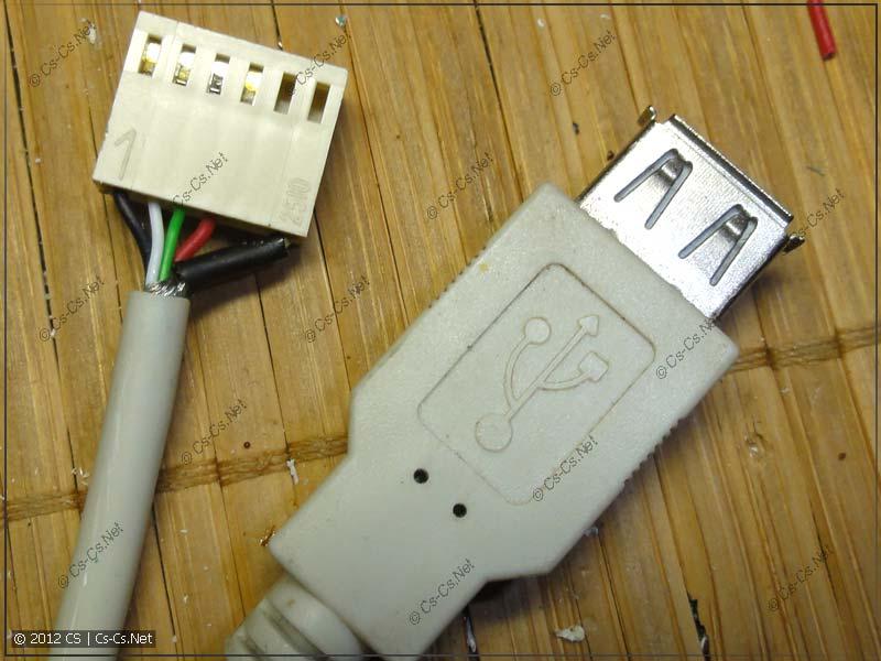 Изготавливаем внешний USB-кабель из USB-удлинителя