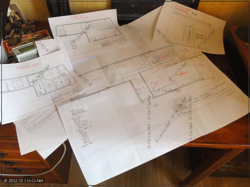 Процесс обработки одного из проектов