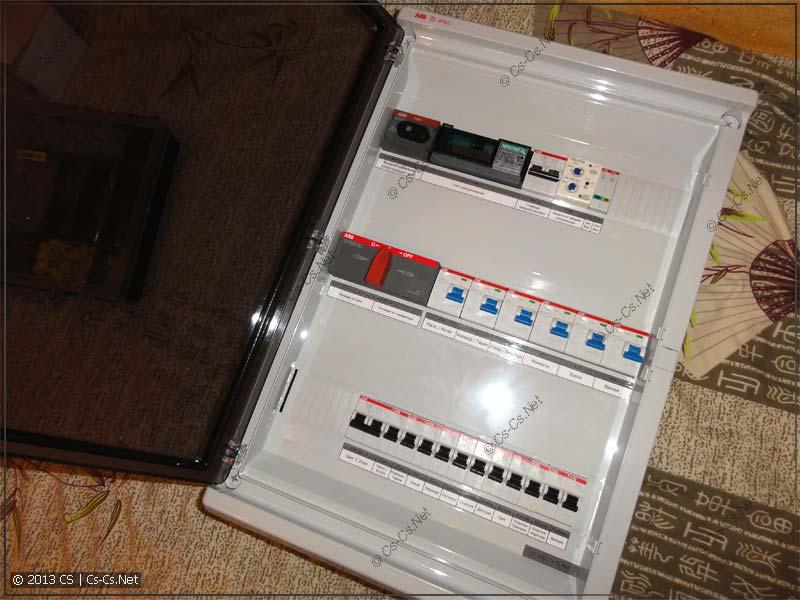 Щиток для дачного дома с переключением ввод-генератор