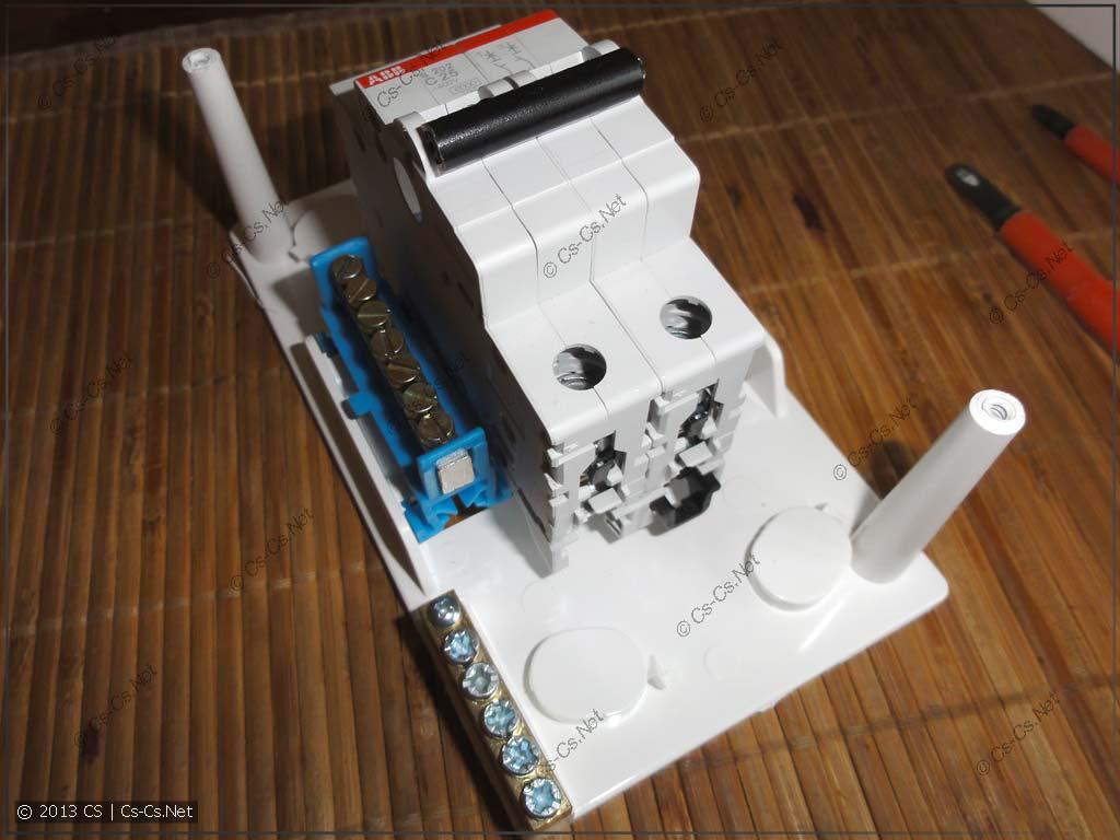 Простейший вариант заготовки для разветвления кабеля варочной