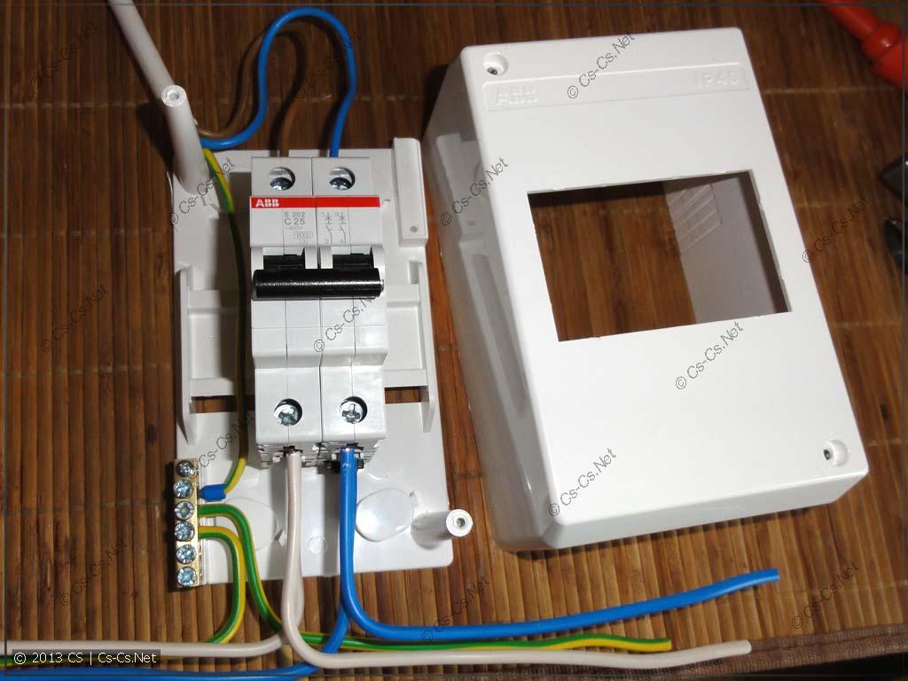 Пример монтажа кабелей для подключения варочной и духовки