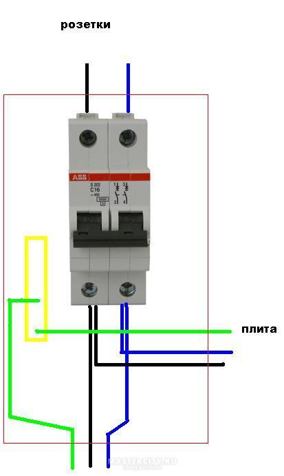 Основная идея подключения варочной и духовки на один автомат