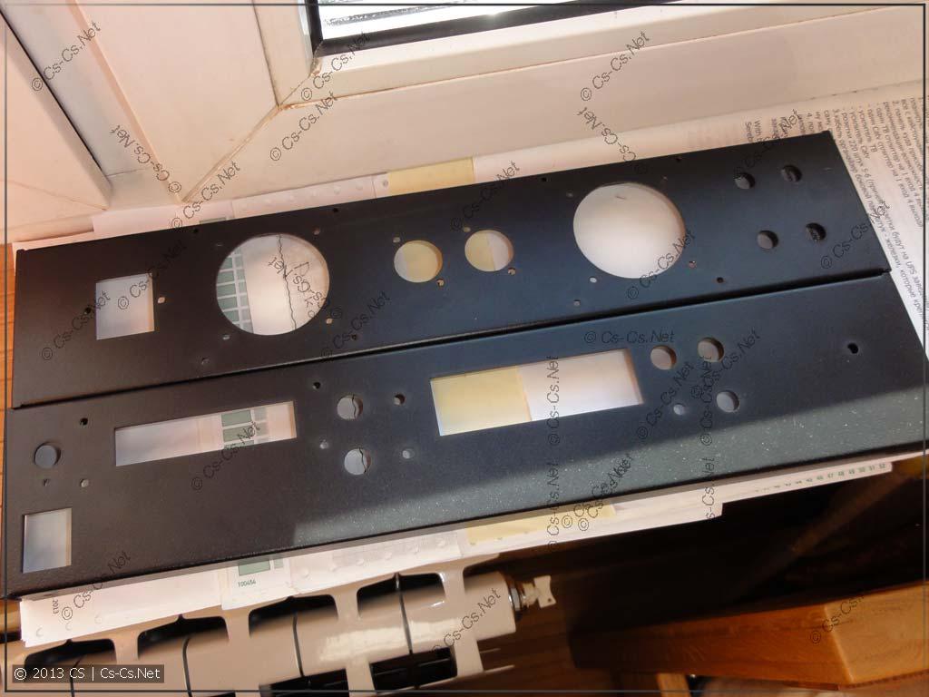 Результаты лазерной резки (панели для усилителя)