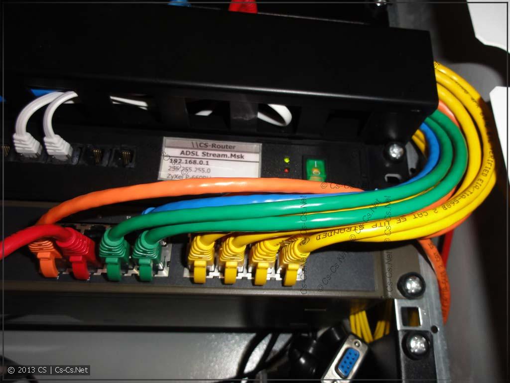 Патч-корды различаются по цветам, которые соответствуют у меня цветам модулей KeyStone