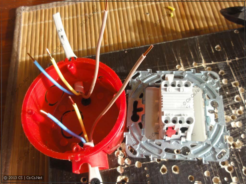 Разделываем и зачищаем все кабели