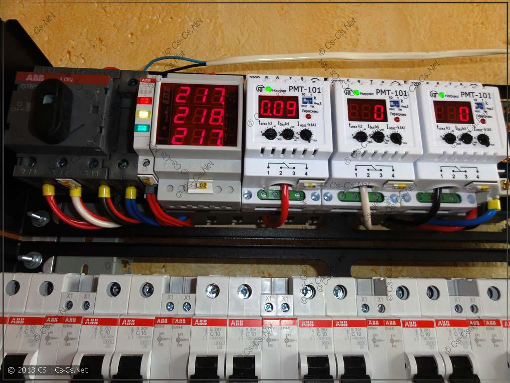 Щит 1: Контроль напряжения и тока
