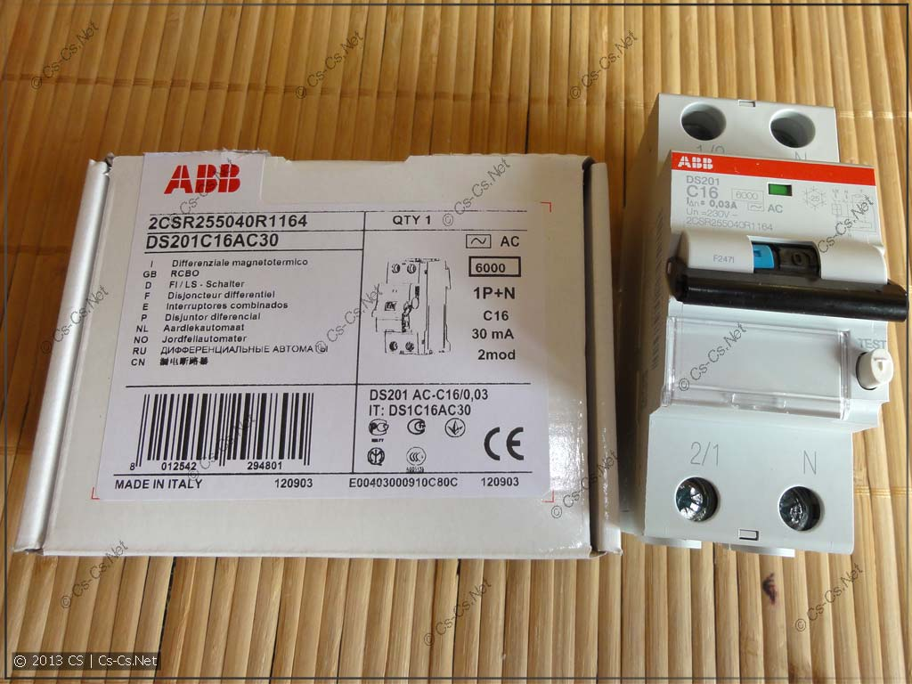 Дифавтоматы ABB DS201/DS202C