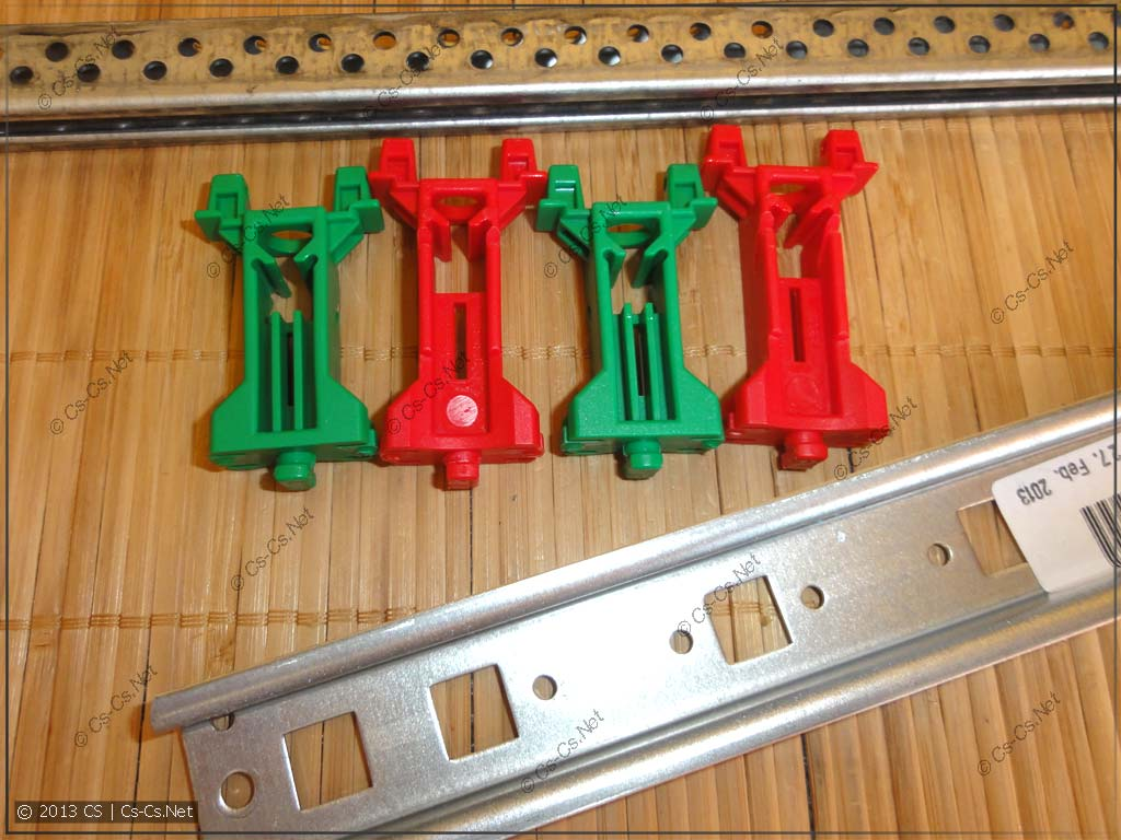 Специальная DIN-рейка для EDF-панелей и стойки для пластронов