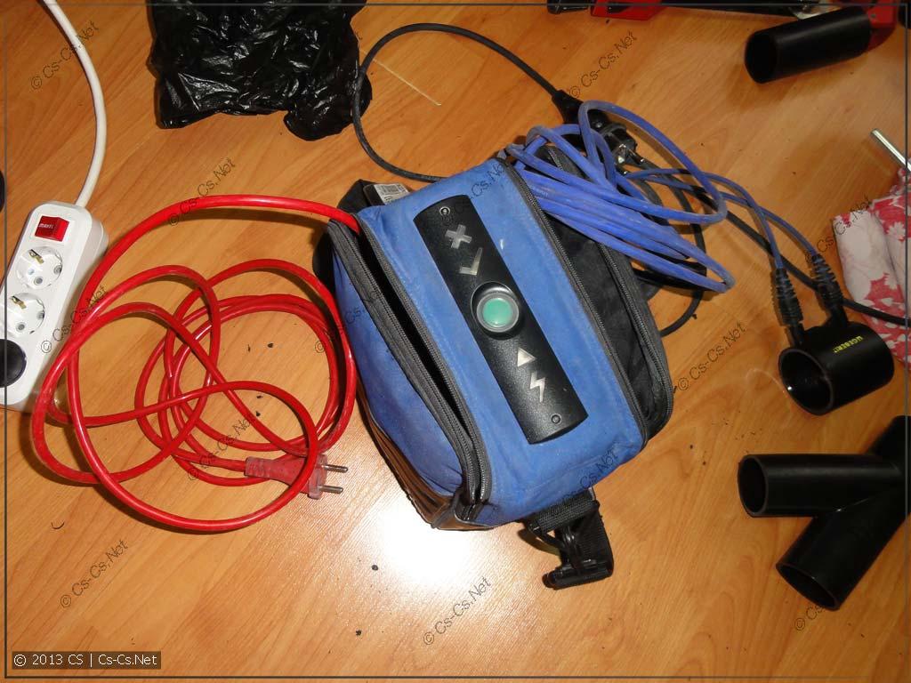 И к ней подключаются провода от аппарата сварки