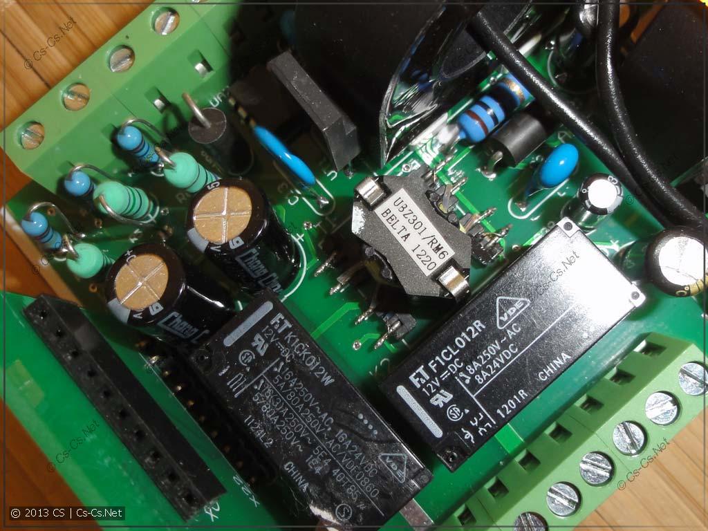 Внутренняя начинка ОМ-310 (блок питания и входные цепи напряжения)