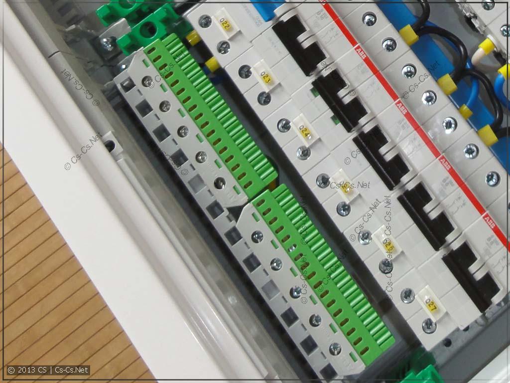ABB: Новые шинки N/PE для шкафов завода Striebel & John