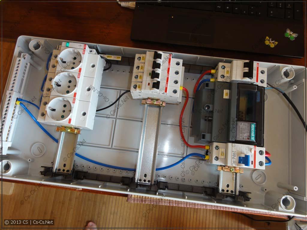 Как сделать электрический щиток в гараж