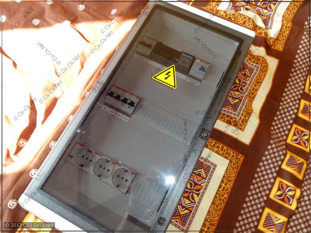 Щиток камраду в Гараж (чтобы током не било)