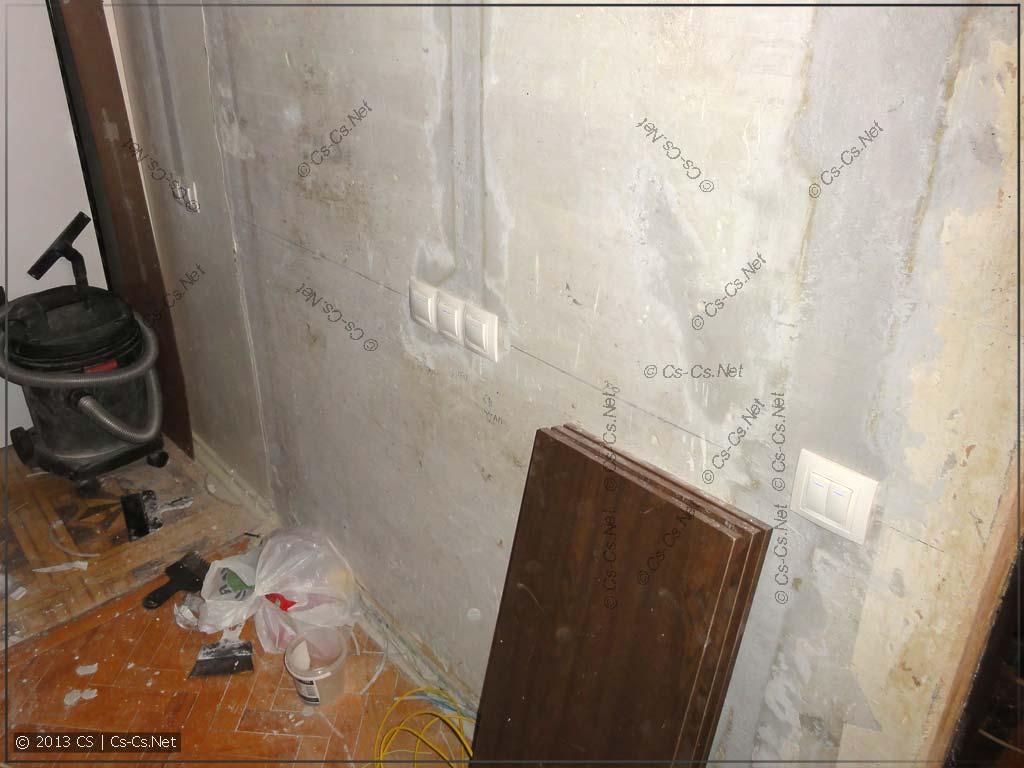 Кучка выключателей кухни, санузла и коридора
