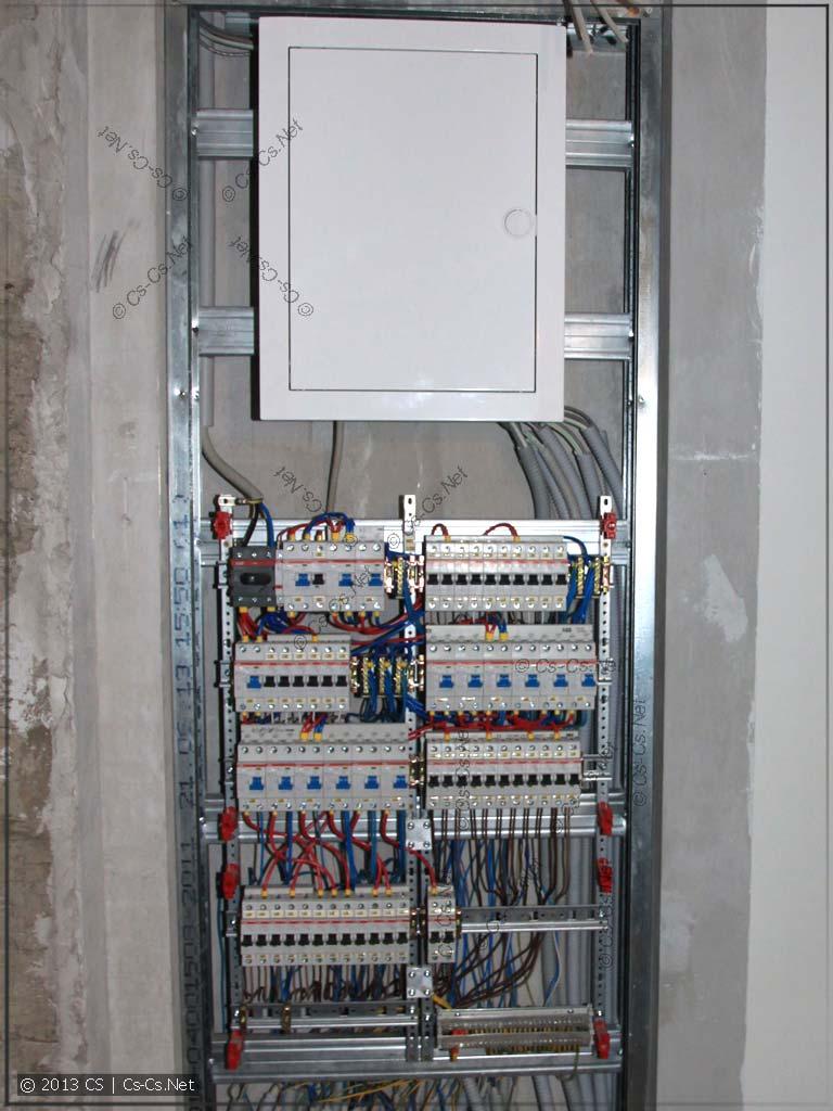 Пример использования EDF-панели в качестве щитка (подключена)