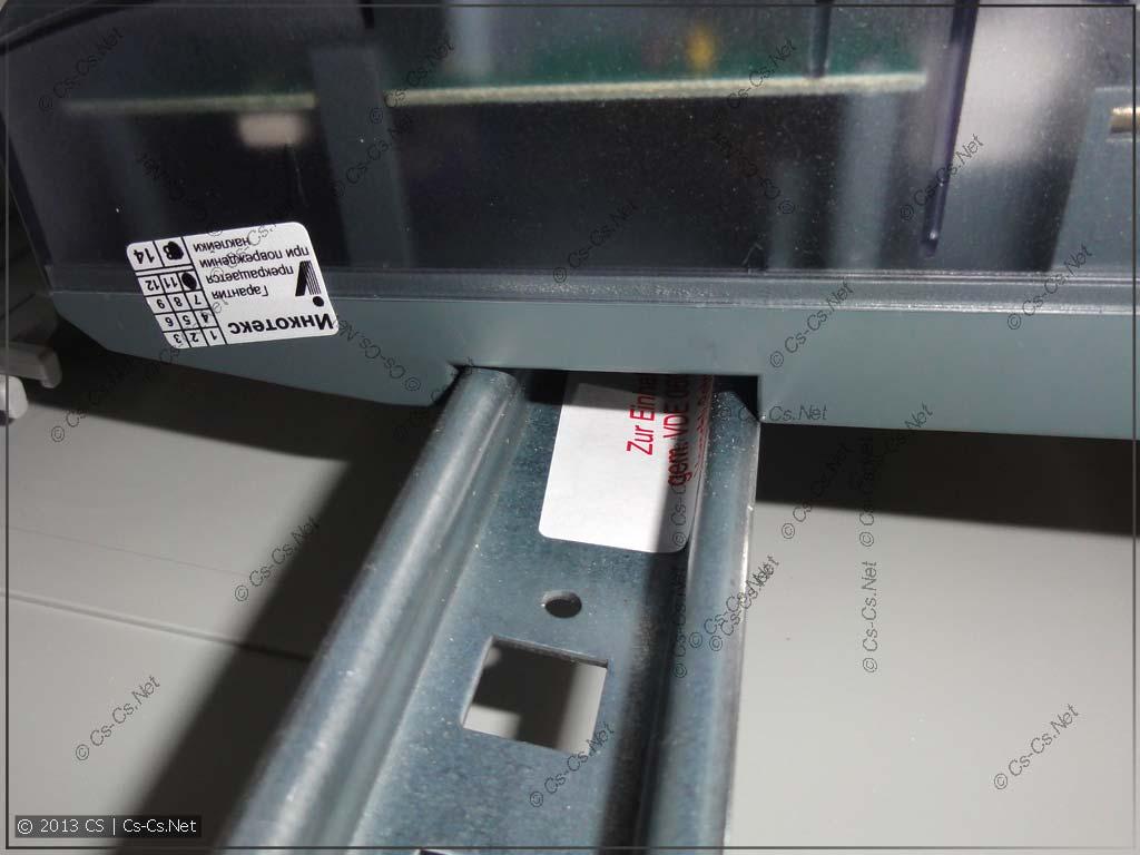 ...и на толстую DIN-рейку для EDF/CombiLine панелей - тоже не лезет!