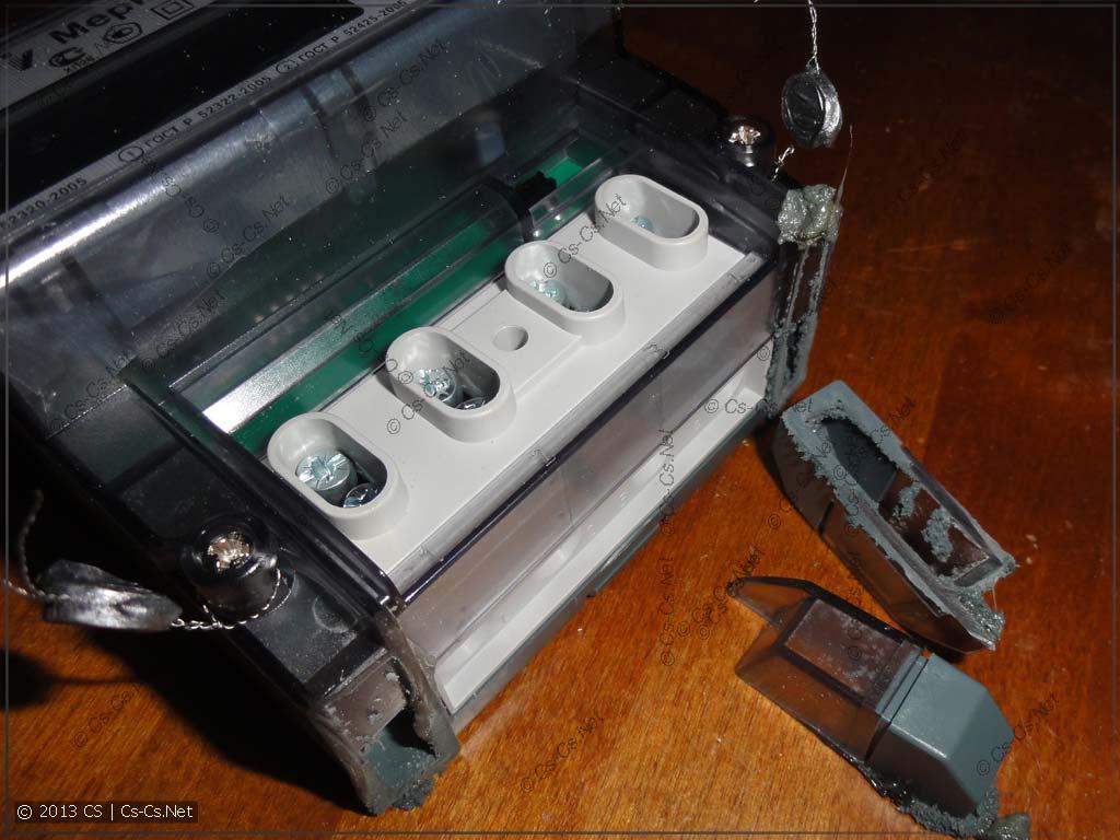 После этого корпус счётчика сразу приобрёл нужные размеры