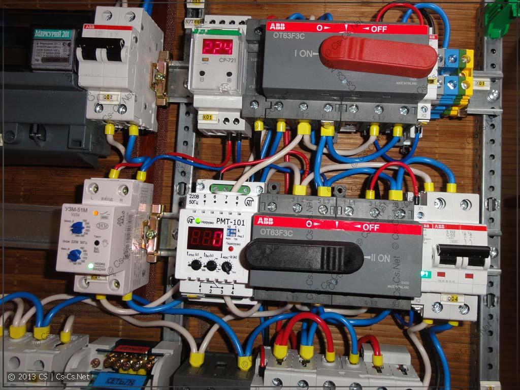 Щитки в Тёплый Стан: ГЛЮЧНАЯ коммутация сети, генератора и стабилизатора