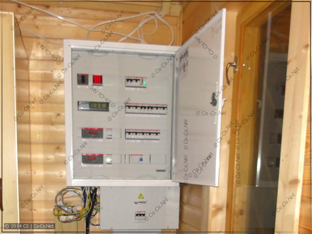 Первый день: щиток повешен, кабели подключены на соплях