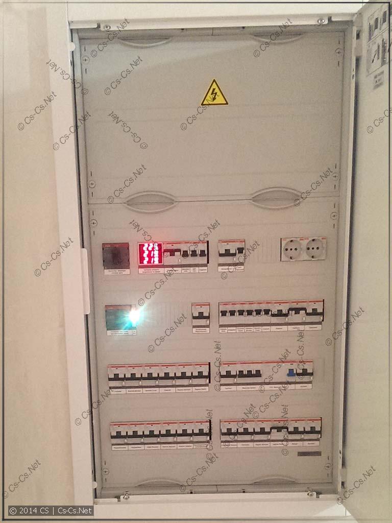 Подключенный щиток U62 с частью слаботочки другу в Реутове