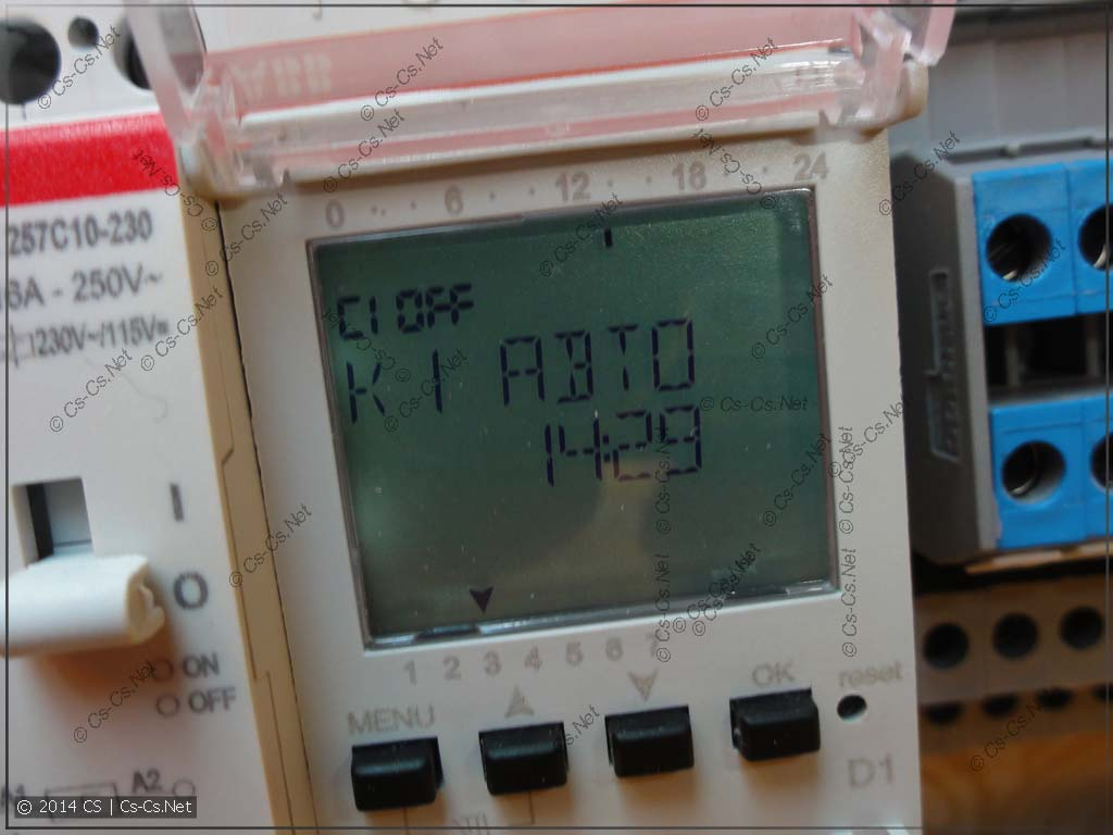 Для управления обогревом ванной поставили реле времени ABB D1
