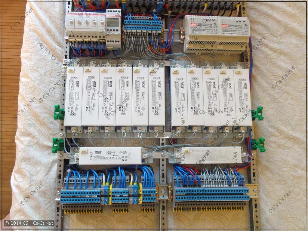 LED-драйвера и выходные клеммы подключены