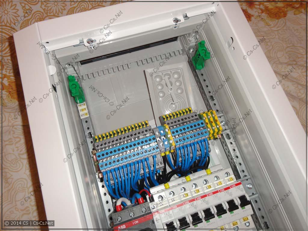 Небольшой щиток в Долгопрудный - место для кабелей
