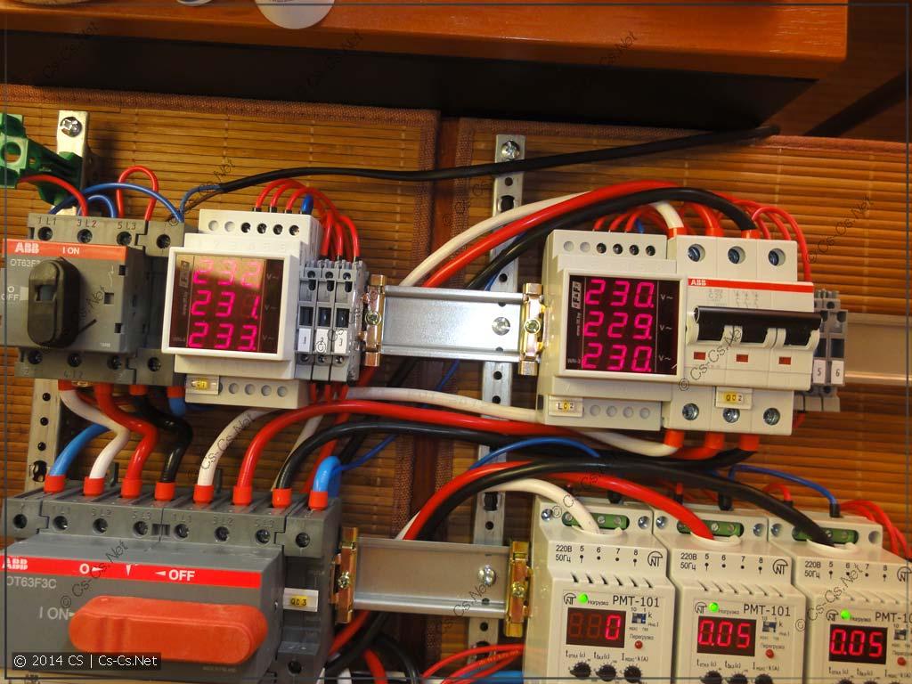 Индикация двух вводов: от сети и от генератора