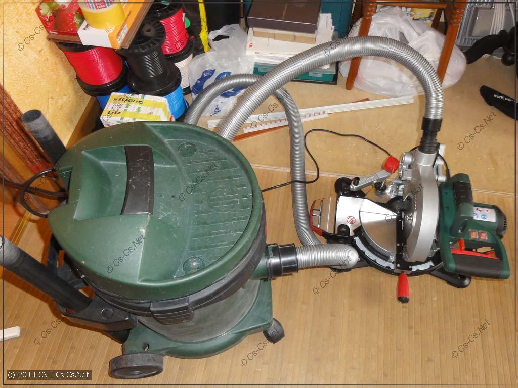 Подключение пилы к пылесосу Metabo ASA 1202