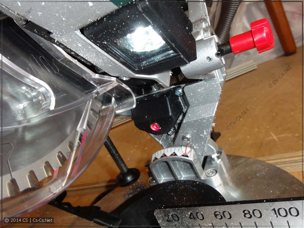 Лазер и подсветка в действии
