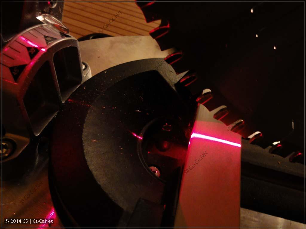 Лазер точно указывает место реза