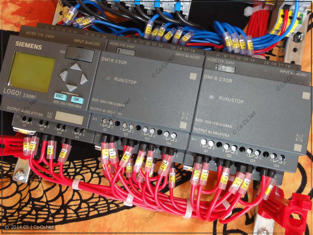 Щиток в Снежинск: Обвязка контроллера LOGO