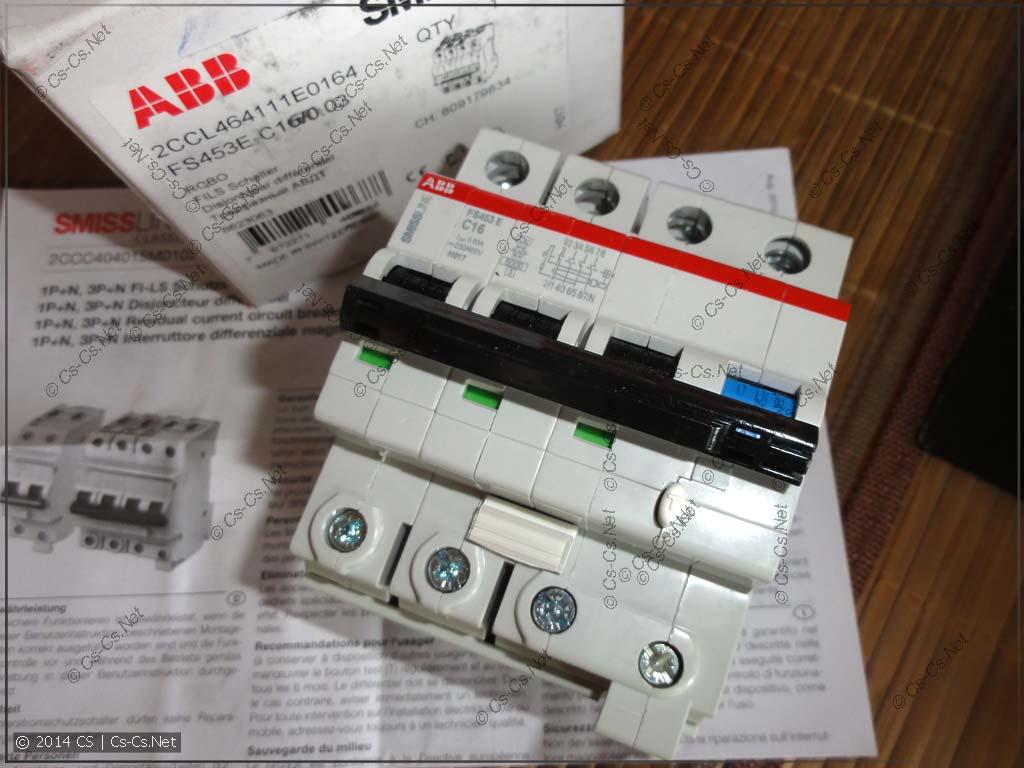 Новый дифавтомат ABB FS 453E - 4 модуля