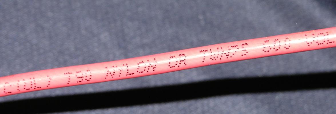 Провод красный маложильный C(UL) T90 сечения AWG 10 (1)