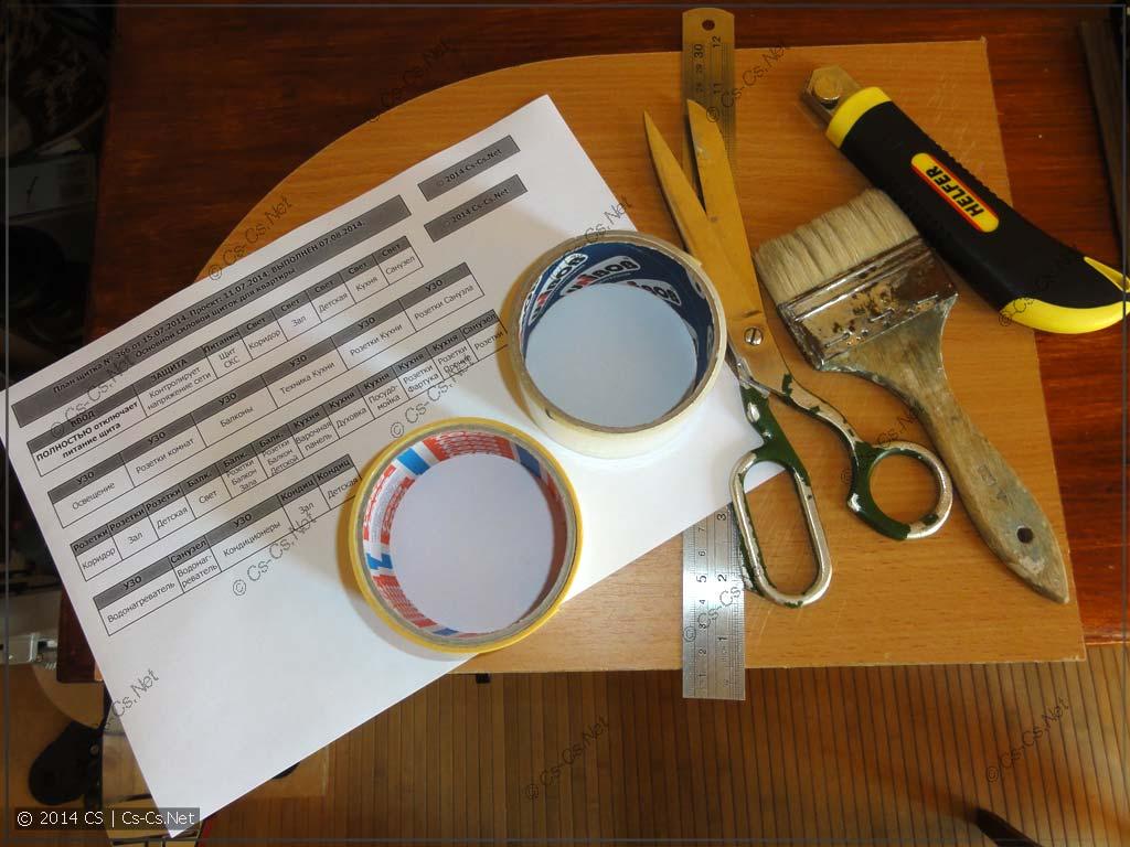 Инструменты, которые нужны для вырзания наклеек