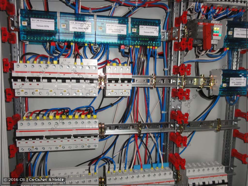 Моя сборка щитов (Cs-Cs.Net). Провода в нужных местах лежат свободно