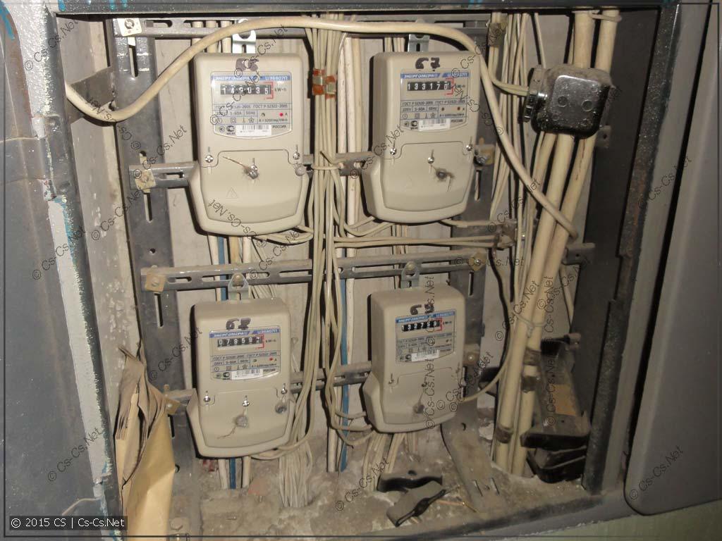 Этажный щиток в домах типа П-3, П44, П55 (счётчики)
