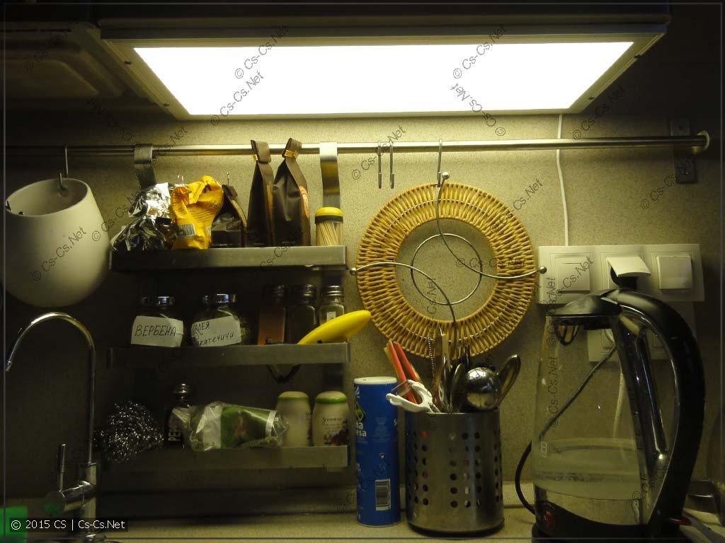 Подсветка на кухне (светодиодная панель)