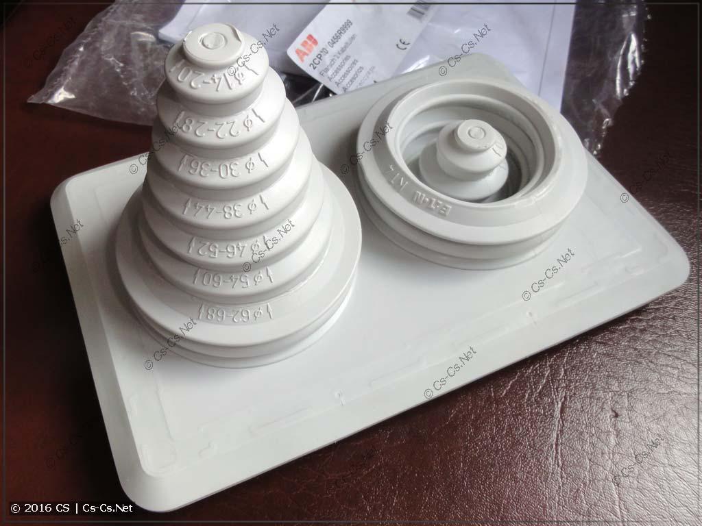 Фланец кабельных вводов TZ104 для шкафов TwinLine