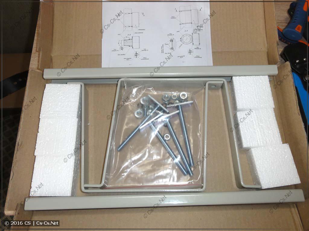 Комплект крепления на столб IEK YKK-0-126