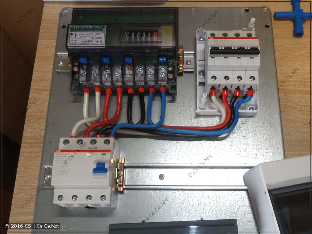 Собранный ВРУ на базе шкафа DKC ST