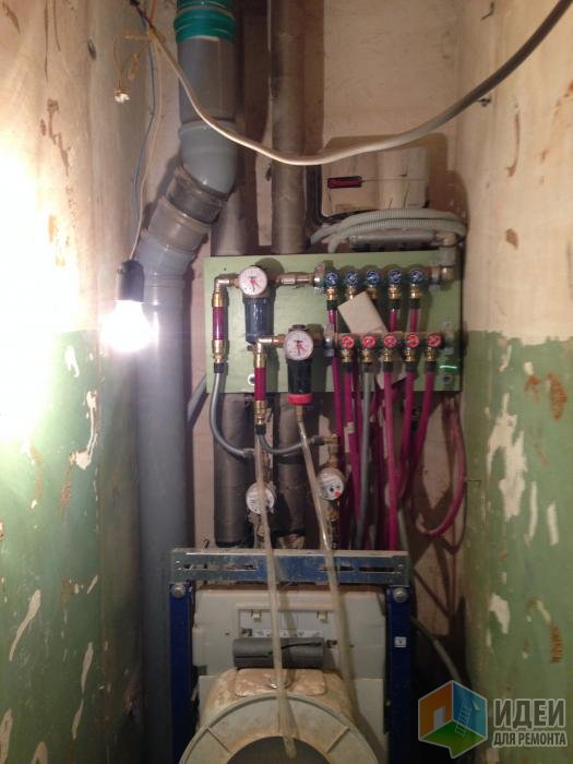 Стояк канализации перенесли из-за того, что не знали как закрепить инсталляцию